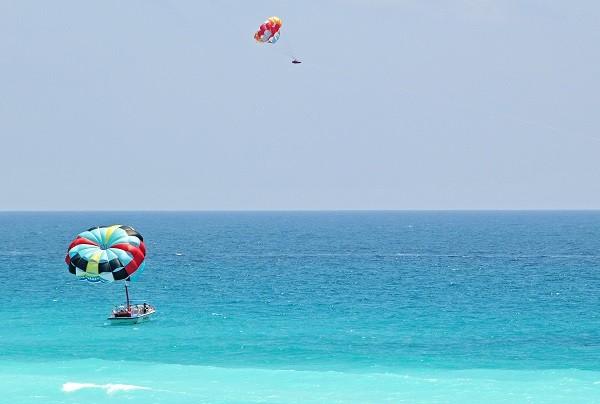 Cancun beach crystal water