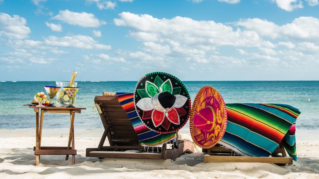 Mexican tradition at the beach for a celebration